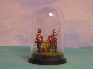 Figures in acrylic or glass domes